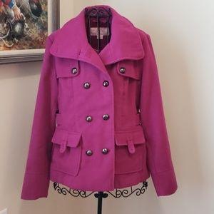 Pink Envelope Pea Coat